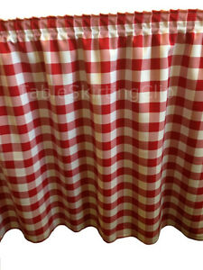 17 Red And White Checkered Table Skirt Checker Pattern Table Skirting Skirts