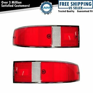 Taillight Taillamp Red White With Chrome Trim Pair Set For Porsche 911 912 930