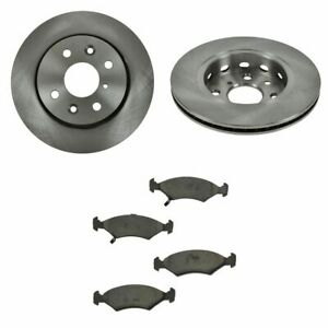 Front Ceramic Disc Brake Pads 2 Rotors Kit Set For Kia Sephia Spectra
