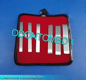 6 Pcs Osteotome Lambotte Set Orthopedic Surgical Instruments