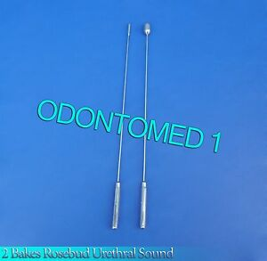 2 Pcs Bakes Rosebud Urethral Sounds 4mm 12mm