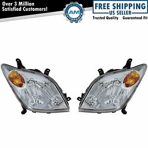 Front Headlights Headlamps Lights Lamps Left Right Pair Set For 04 05 Scion Xa