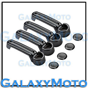 Black Chrome Plated Abs 4 Door Handle Cover For 07 12 Dodge Nitro