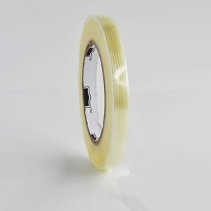 Clear Industrial Filament Strapping Tape 4 Mil 1 2 X 60 Yds 36 Pack