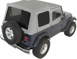 Rampage Complete Soft Top W Frame Tint 87 95 Jeep Wrangler Yj 68211 Gray