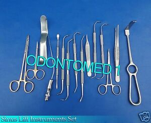 15 Sinus Lift Instruments Set Kit Implant Dental Dentistry Ds 875