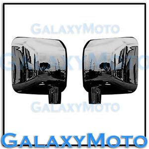 Triple Black Chrome Plated Full Mirror Cover A Pair Fit 07 18 Jeep Wrangler Jk