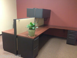 7 Work Stations Haworth Multiple Configuration Office Cubicles W Cabinets