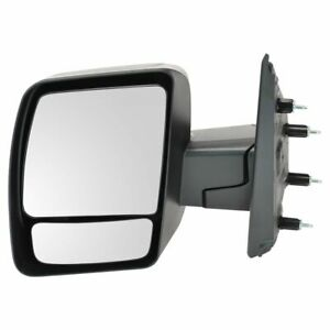 Mirror Manual Black Textured Driver Side Left For Nissan Nv 1500 2500 3500