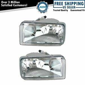 Fog Driving Lights Pair Set For Chevy Silverado Tahoe Avalanche Suv Pickup Truck