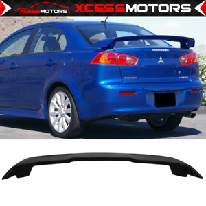 08 17 Mitsubishi Lancer 4dr Sedan Oe Factory Style Trunk Spoiler Primer Abs Wing