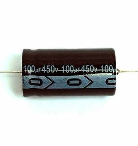 50pc Electrolytic Capacitor Gha Axial 2000hr 105 Rohs 100uf 450v 22x43mm Sc