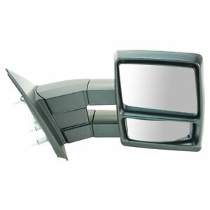 Mirror Manual Dual Arm Towing Passenger Side Right Rh For 04 14 Ford F150