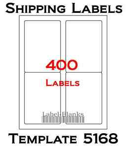 400 Laser Ink Jet Labels 3 5 X 5 Shipping Compatible With Size 5168 100