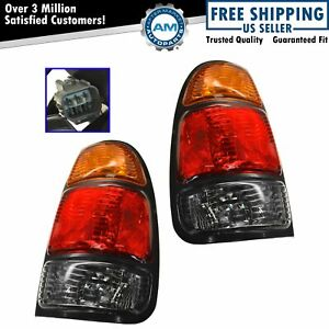 Taillights Taillamps Rear Brake Lights Pair Set For 00 04 Tundra Pickup Truck