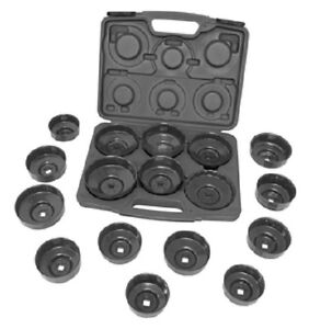 Lisle 61500 17 Piece Oil Filter Cap Wrench Set