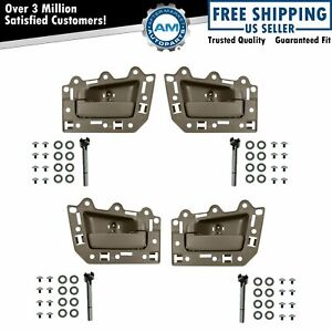 Front Rear Inside Inner Light Brown Door Handle Set Of 4 For Grand Cherokee