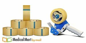 12 Rolls Clear Packing Tape 3 Inch 110 Yds 2 Mil 1 Free 3 Inch Gun Dispenser