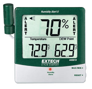 Extech 445815 Hygro thermometer Humidity Alert With Dew Point