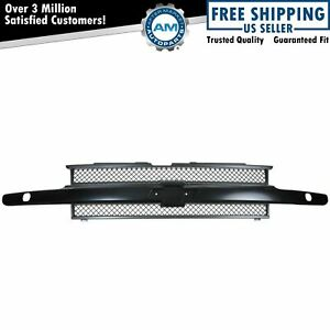 Grille Grill Black Front End For 02 09 Chevy Trailblazer W Headlight Washers