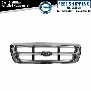 Chrome Dark Argent Grille Front End Grill For 98 00 Ford Ranger Pickup Truck