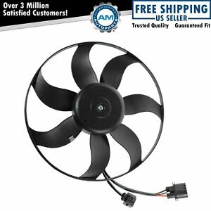 Radiator Cooling Fan Driver Side Left Lh For Audi A3 Vw Beetle Cc Eos Golf New