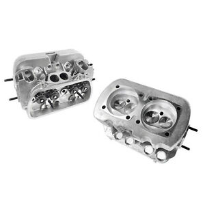New Pair Vw 1600 Dual Port High Performance Cylinder Heads 85 5 Bore