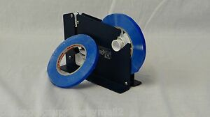 Poly Bag Sealer Tape With Dispenser 3 8 Inch X 180 Blue Color 24 Rolls