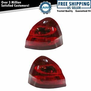 Taillights Taillamps Rear Brake Tail Light Lamp Pair Set For 04 08 Grand Prix