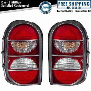 Taillight Tail Lamp Guard Pair For Jeep Liberty 05 06 07