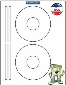 50 Cd Dvd Laser And Ink Jet Labels Template 5931 8931 8692 25 Sheets
