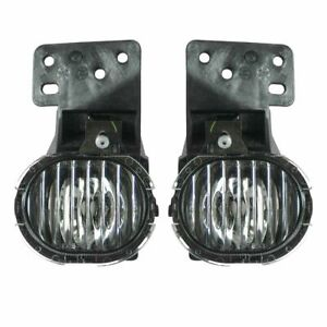 Front Replacement Fog Driving Light Lamp Pair Set Kit For 97 03 Chevy Malibu