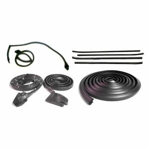 Rubber Door Roofrail Trunk Window Sweep Weatherstrip Seal Kit For