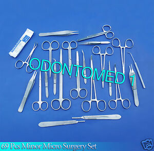 69 Pc Minor Micro Surgery Surgical Veterinary Dental Instruments odm ds 854