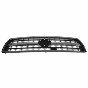 Chrome Black Front End Grille Grill For 00 02 Toyota Tundra Pickup Truck