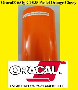 12 X 10 Ft Roll Pastel Orange Glossy Oracal 651 Adhesiv Cutter Plotter Sign 035
