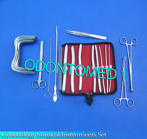 Gynecology Surgical Instruments Kit Forceps Sims Speculum hegar Dilators Kit