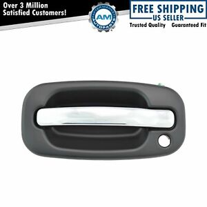 Chrome black Door Handle Left Lh Front Exterior For Silverado Pickup Truck