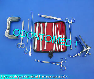 Gynecology Surgical Instrment Sims pederson Speculum Large hegar Dilators Kit
