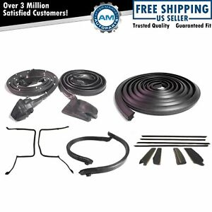 Full Weatherstrip Set Kit For 78 81 Camaro Firebird T Top Seals W Decor Package
