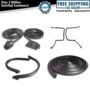 Roof Door Rubber Weatherstrip Seals Set Kit For 78 81 Camaro Firebird W T tops