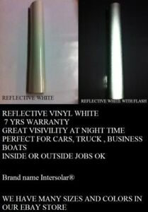 24 X 150 Ft White Reflective Vinyl Adhesive Cutter Sign Special Price