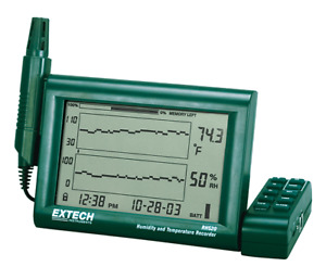 Extech Rh520a Humidity temperature Chart Recorder With Detachable Probe
