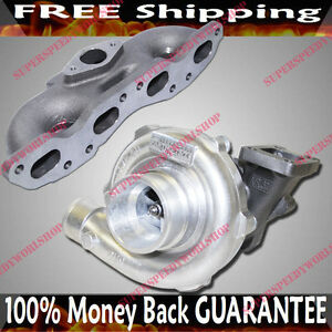 Iron Cast Turbo Manifold T3 t4 Turbo Charger For Nissan 89 98 240sx Sr20 Only