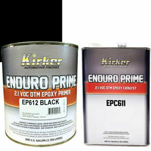 1 Gallon Kirker Enduro Prime Epoxy Black Primer Ep612 Catalyst Epc611 Auto