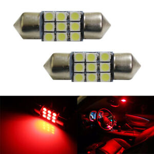 Super Red 9 smd 1 25 31mm De3175 De3022 Led Bulbs For Interior Map Dome Lights