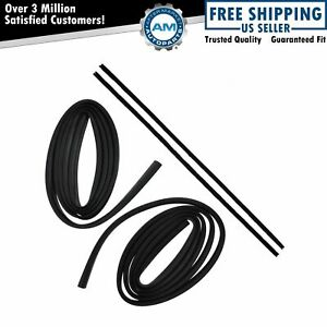 Front Glass Run Channel Weatherstrip Seal Pair Set Kit For 62 67 Chevy Ii Nova