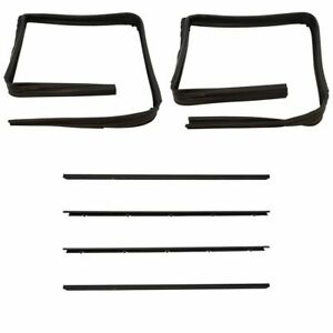 Front Window Sweep Run Channel Seal Kit Set For Gmc Chevy Blazer Pickup Truck