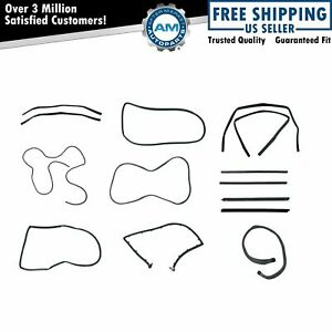Rubber Weatherstrip Seal Kit Set For Full Doors For 87 95 Jeep Wrangler 13 Piece