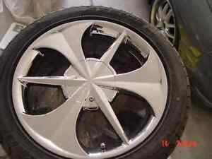 17 Inch Chrome Rims Tires Set Of 5